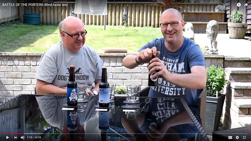 blind taste test of porter beer