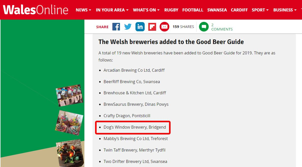 Wales online good beer guide